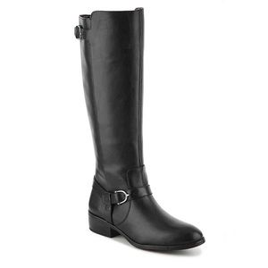 Ralph Lauren Black Leather Harness Riding Boot